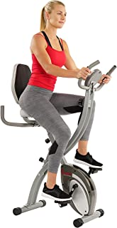 Sunny Health & Fitness Comfort XL Ultra Cushioned Seat Folding Exercise Bike with Device Holder - SF-B2721