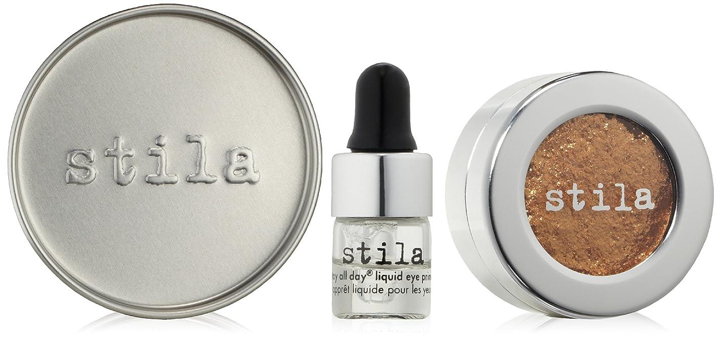 経歴無視する上院スティラ Magnificent Metals Foil Finish Eye Shadow With Mini Stay All Day Liquid Eye Primer - Comex Gold 2pcs並行輸入品