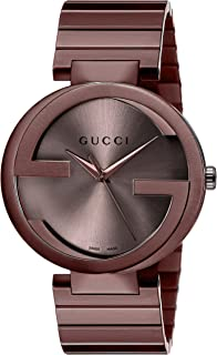 ab51ace0859 Gucci Swiss Quartz Metal and Alloy Dress Brown Men s Watch(Model  YA133211)