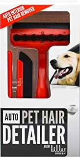 Lilly Brush Auto Pet Hair Detailer-(for Short, Straight, WIRY Hair That embeds Itself into car Carpets)