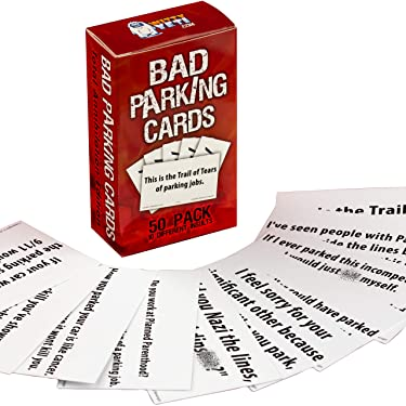 Witty Yeti Hilarious Bad Parking Cards Total Annihilation Edition 50 Pk 5 x 10 Sayings Perfect for Shaming Drivers. Funny Road Rage Revenge, Gag Gift, Prank Insult Set and White Elephant Novelty