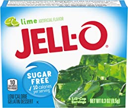 Jell-O Lime Sugar-Free Gelatin Mix (0.3 oz Boxes, Pack of 6)
