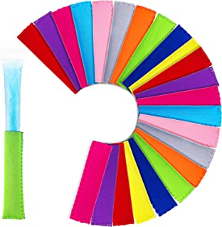 Tatuo 50 Pieces Popsicle Holders Ice Pop Neoprene Insulator Sleeves Freezer Popsicle Holders Bags, 10 Colors