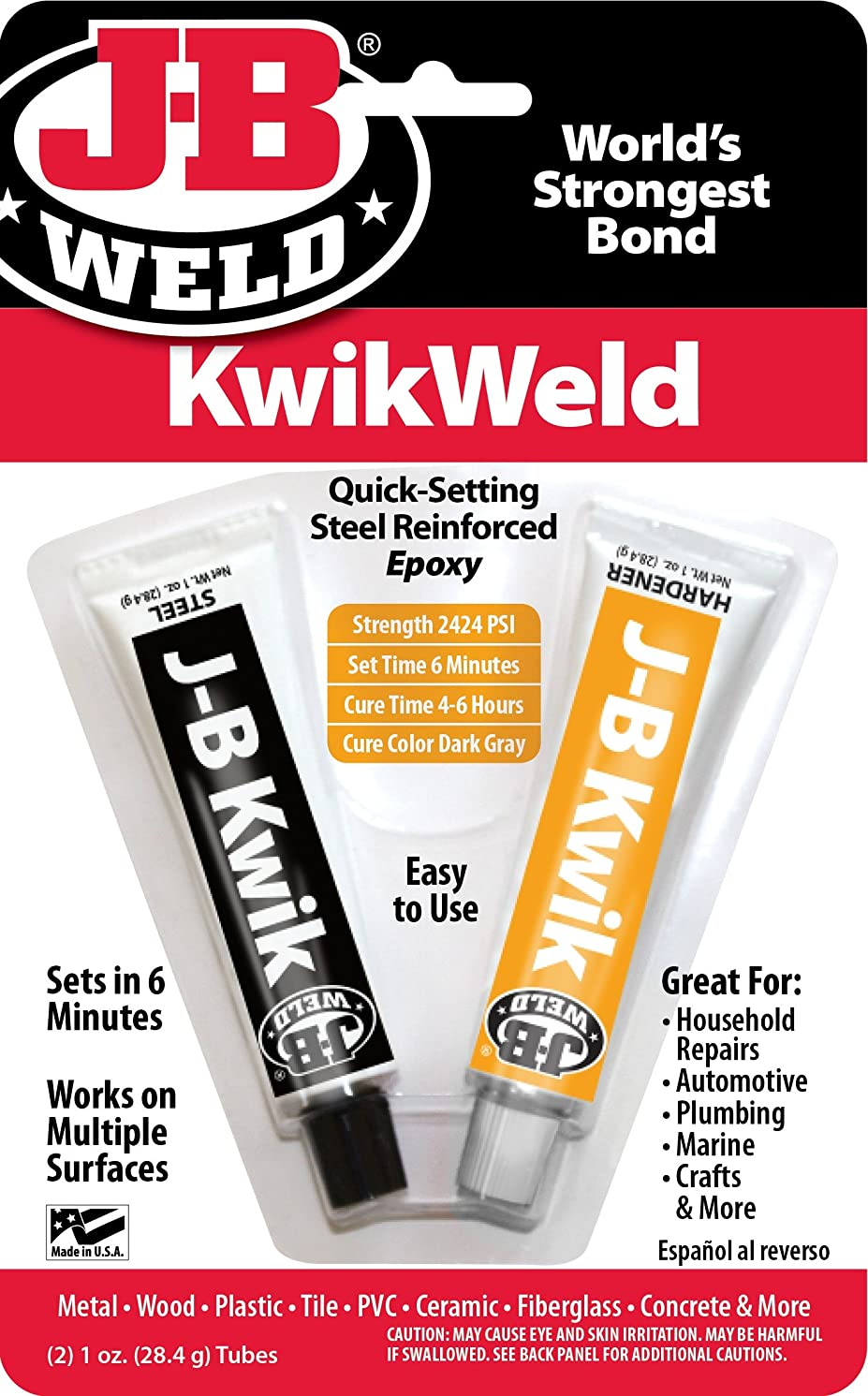 J-B Weld 8276 JB Kwik, Pack of 2