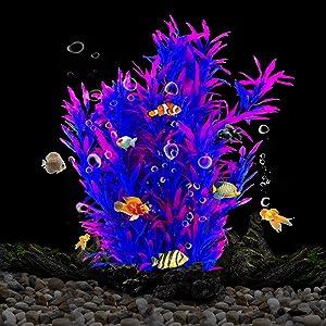 Artificial Aquarium Fish Tank Plants,Plastic Aquarium Decor,Eco-Friendly Betta Fish Tank Decorations Vivid Color