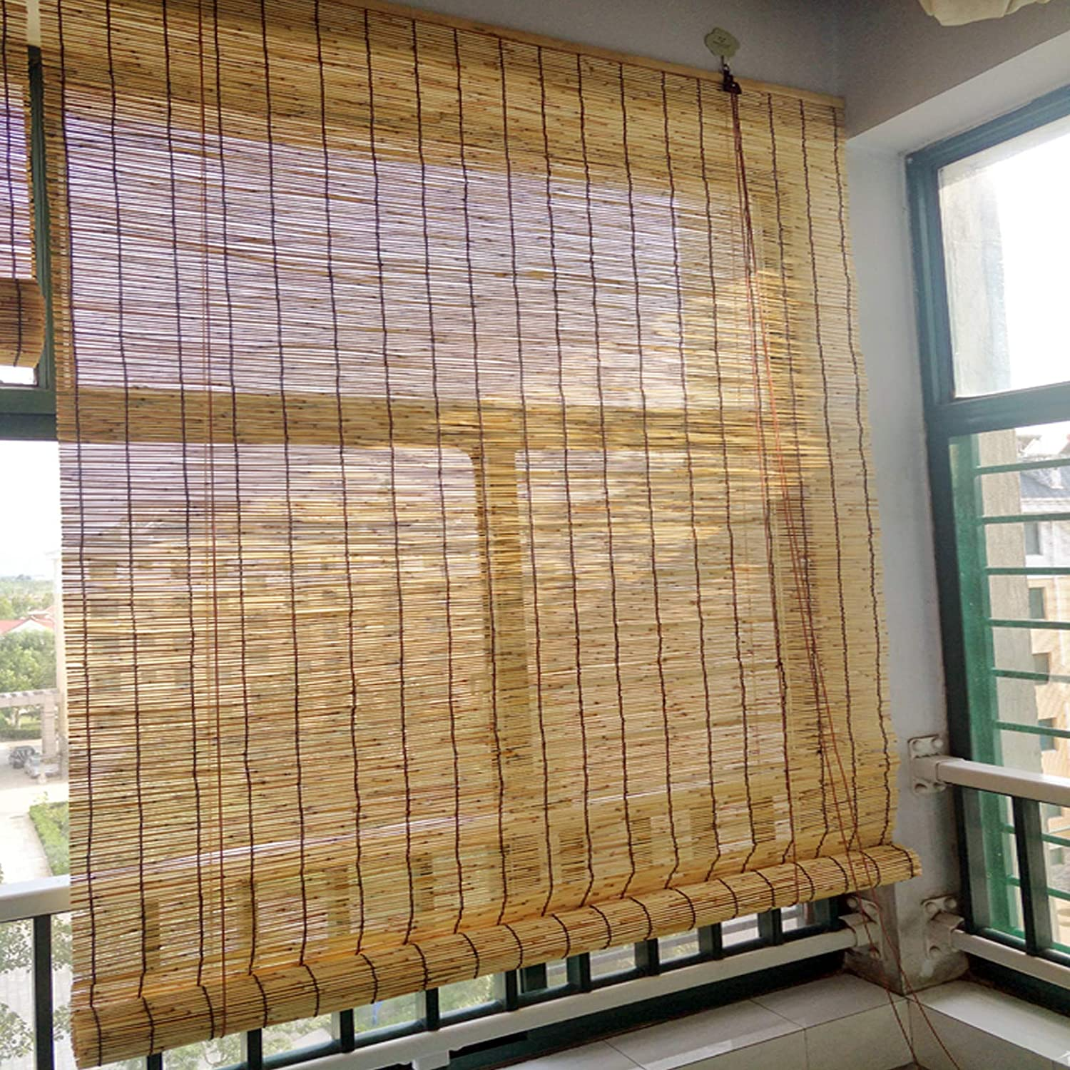 KDDEON Trust Blackout Sun Shade Breathable Natura Bamboo Roller Blinds Great interest