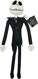 Jay Franco Disney Nightmare Before Christmas Plush Stuffed Jack Skellington Pillow Buddy - Kids Super Soft Polyester Microfiber, 27 inch (Official Disney Product)