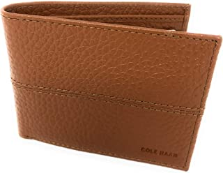 Cole Haan Pebbled Leather Men's Bifold Billfold Wallet Brown