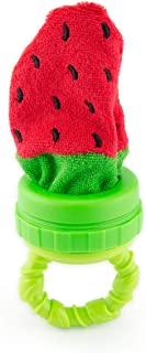 Sassy Strawberry Terry Teether Teething Toy | Soft Terrycloth Washcloth Material | Add Ice For Teething Relief | For Ages 3 Months & Up
