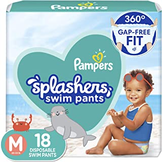 Pampers Splashers Swim Diapers Size M 18 Count