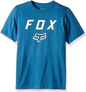 Fox Boys' Big' Youth Legacy Logo Short Sleeve T-Shirt, Dusty Blue, YS