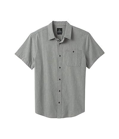 Prana Jaffra Short Sleeve Shirt (Gravel) Men
