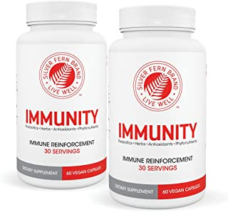 Immunity - Immune System Booster Support Supplement - Antioxidants, Probiotics, Herbs & More (2 Bottles - 60 Day Supply)