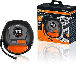 OSRAM TYREinflate 450, Digitale Reifenpumpe mit Auto Stopp und LED Licht, tragbarer 12V Kompressor für Autoreifen, Stromanschluss via Zigarettenanzünder, Reifenbefüllung in 3,5 Minuten