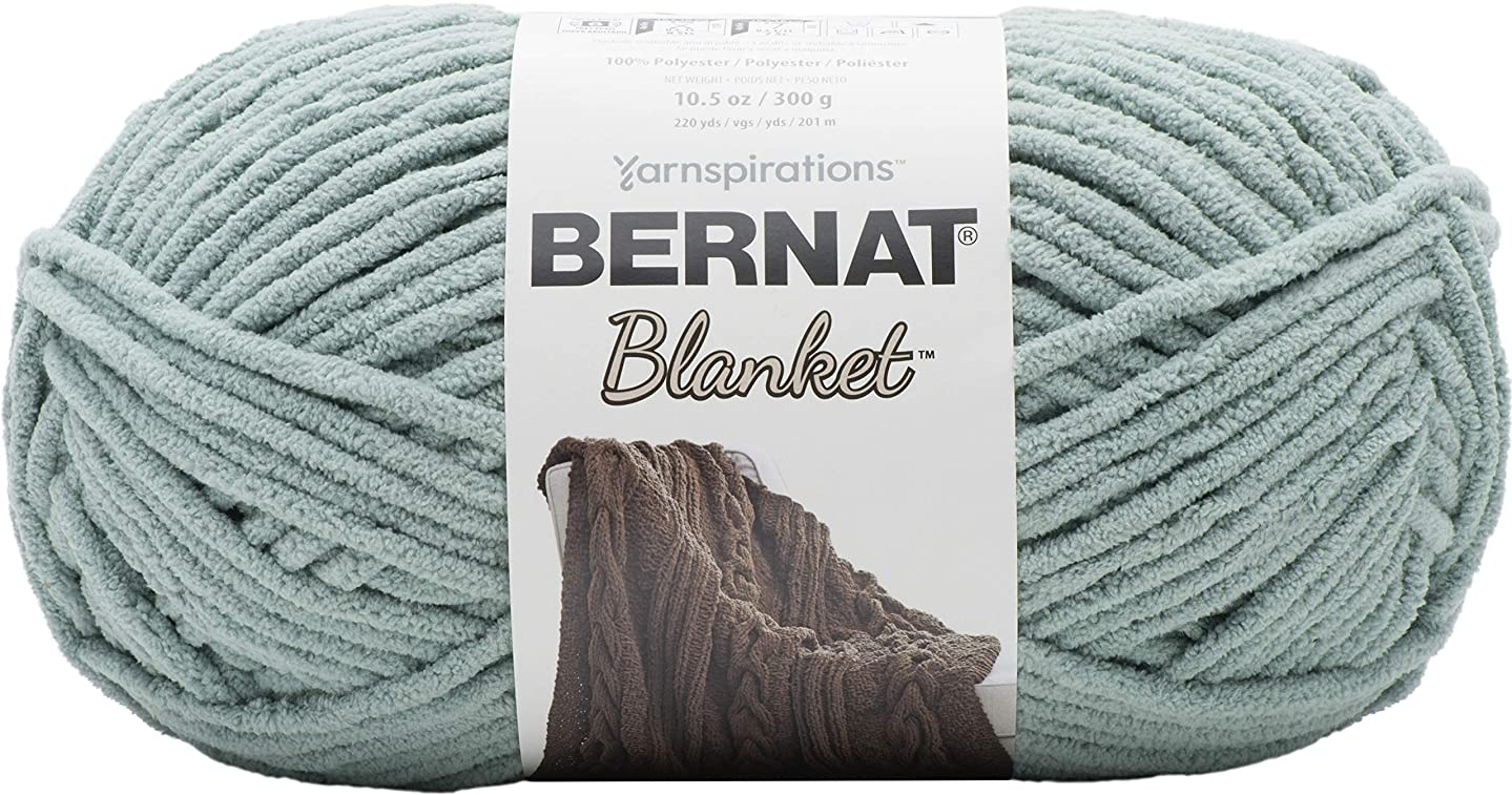 Bernat Blanket Yarn, 10.5 oz, Misty Green, 1 Ball