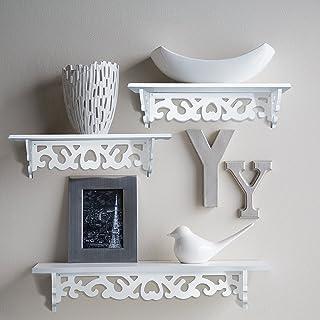 Home-Neat Juego de 3 estantes de pared flotante, ideal para libros o colecciones, Añadir diseño y sabor a tu habitación