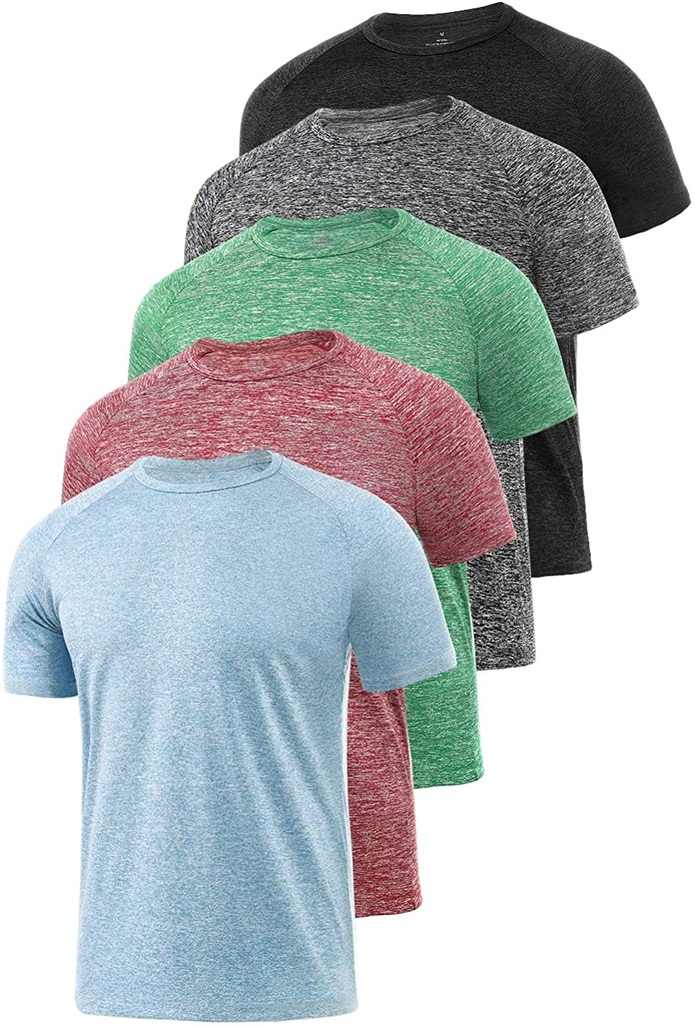 Xelky 4-5 Pack Men's 35% OFF Dry Fit Indefinitely Moisture Shirt Wicking T Athletic