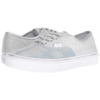 Vans Kids Authentic (Little Kid/Big Kid) ((Metallic Glitter) Silver) Girls Shoes