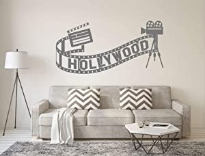Amazing Vinyl Hollywood Wall Sticker - Hollywood Movie Decor Sticker - Movie Wall Art - Hollywood Wall Decal - Movie Wall Stickers - Hollywood Wall Decor (Message for Color and Size)