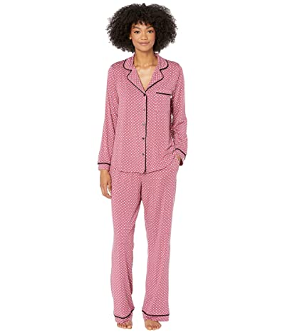 Kate Spade New York Modal Jersey Diamond Doodle Long Pajama Set (Diamond Doodle) Women