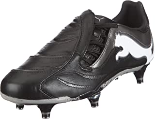 PUMA Powercat 1.10 SG Mens Leather Football Boots/Cleats - Black Silver