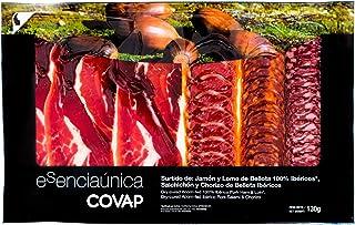 Tabla surtido Ibérico: Jamón, Lomo, Chorizo y Salchichón de Bellota Ibéricos loncheados (130 g)