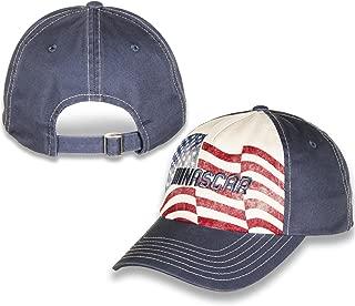 Checkered Flag Sports NASCAR Logo American Flag Adjustable Unstructured Hat