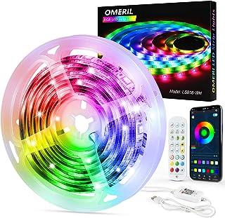 Ruban LED Bluetooth, OMERIL 6M Bande LED Multicolore 144 LEDs 5050 RGB IP65 Etanche, Bande Lumineuse Contrôlé via APP du S...