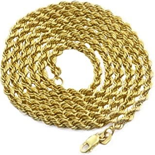 Best thick gold rope chains for mens Reviews