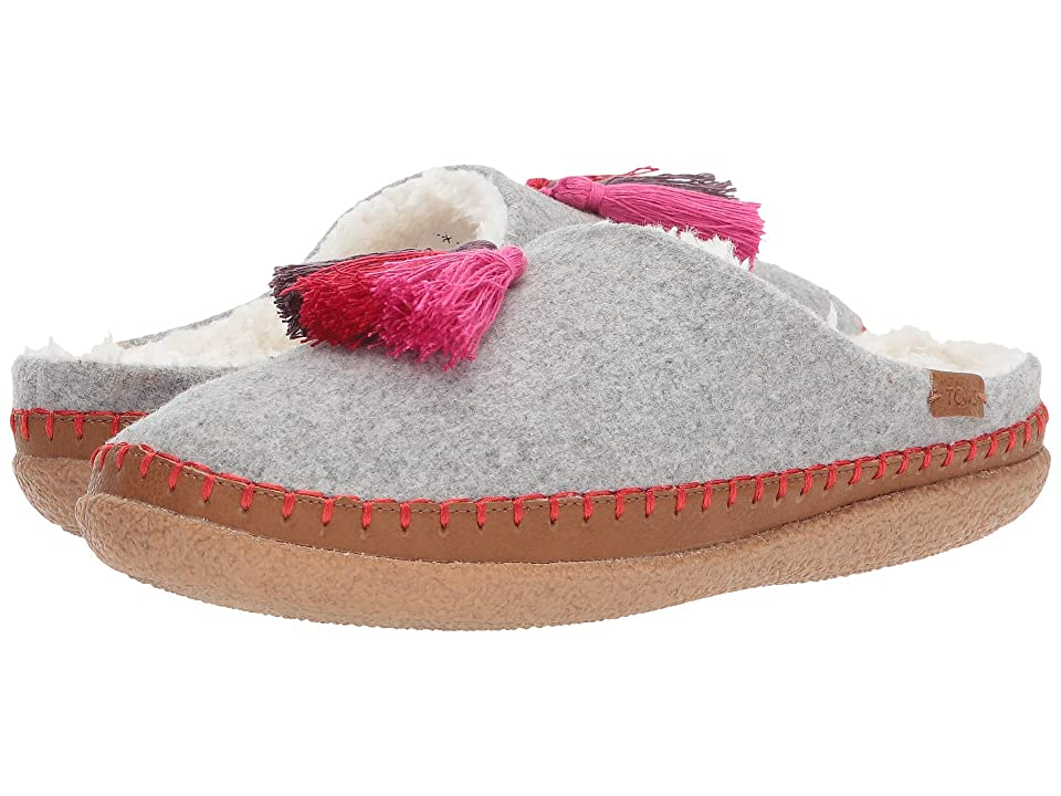 TOMS Ivy Slipper (Drizzle Grey Wool/Tassels) Women