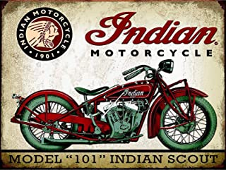 LORENZO Indian Motorcycle Vintage Metal Cartel de Chapa Pared Hierro Pintura Placa Cartel Señal de Advertencia Cafe Bar Pub Beer Club Decoración del hogar