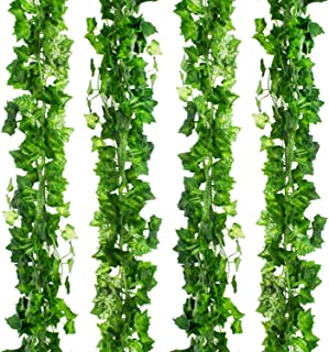 CEWOR 36pcs (236 Feet) Artificial Ivy Fake Greenery Vine Leaves for Home Wedding Garden Swing Frame Decoration (36pcs)