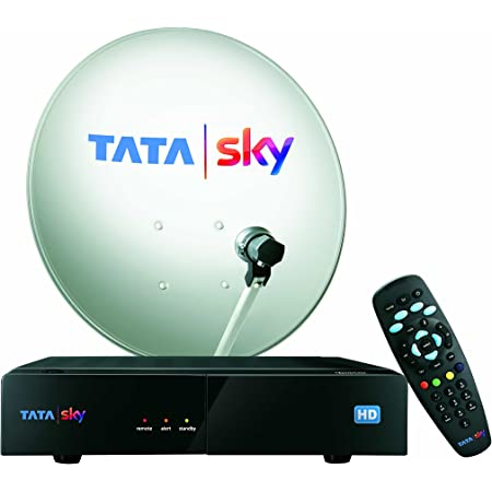 Tata Sky HD Set Top Box with 1 Month Dhamaal Mix HD Free