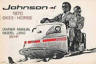 1970 JOHNSON SNOWMOBILE SKEE-HORSE OWNERS MANUAL P/N 405249 (221)