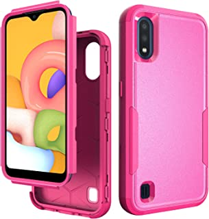 Communikart Case for Samsung Galaxy A01, Drop Protection Full Body Rugged Heavy Duty Case, 3-Layer Protective Durable Cove...