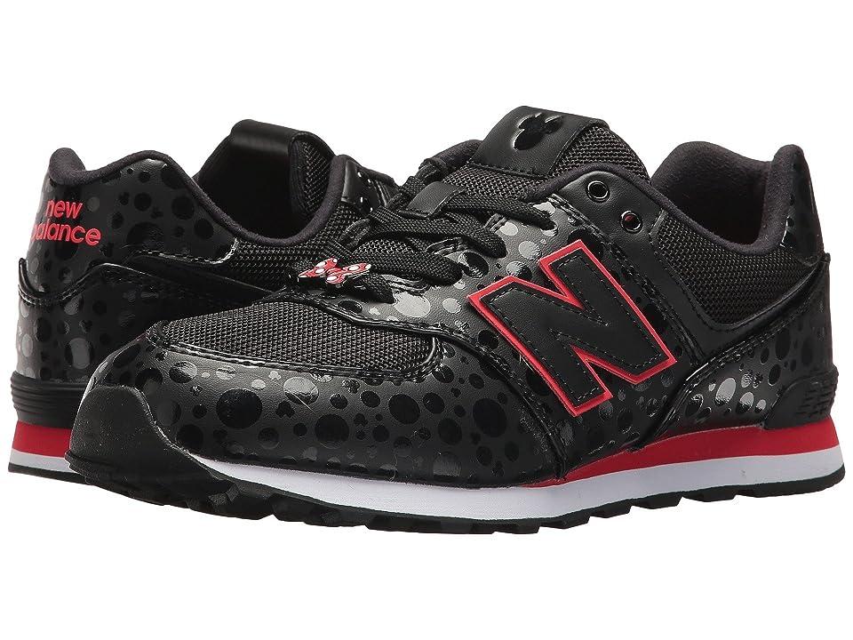New Balance Kids GC574v1 Minnie Rocks the Dots (Big Kid) (Black/Red) Kids Shoes