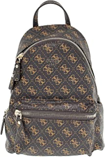 Luxury Fashion | Guess Womens HWQE4557310BROWN Brown Backpack | Season Permanent