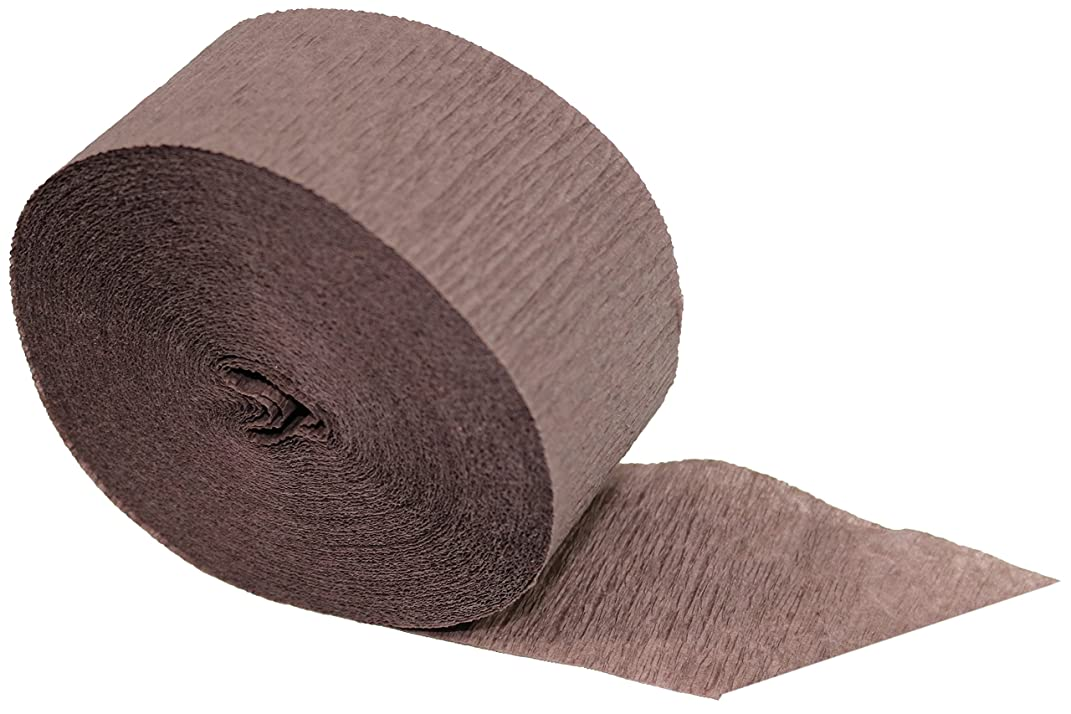 Special Edition Crepe Paper Streamer Party Rolls (Darkwood Brown, 2 Rolls), 145 FEET Total, Made in USA