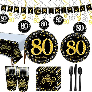Best 80th birthday napkins and plates Reviews