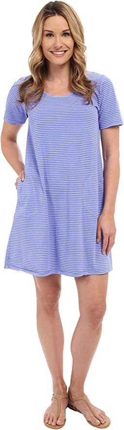 Pinstripe Allure T-Shirt Dress