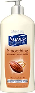 Suave Body Lotion, Smoothing with Cocoa Butter and Shea 18 oz (Pack of 6)