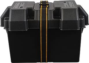 attwood 9067-1 Heavy-Duty Acid-Resistant Power Guard Series 27 Vented Marine Boat Battery Box, Black
