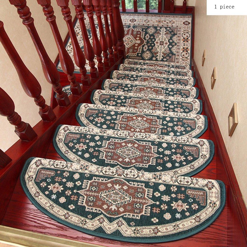Pegamento Gratis Autoadhesivo Mezclado Almohadilla de la Escalera Step Mat Escaleras de Caracol de Madera Maciza Antideslizantes para el hogar (Color : 4, Tamaño : 24 * 65cm): Amazon.es: Hogar