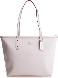 Coach F58846 City Zip Tote Bag for Women - Leather, White