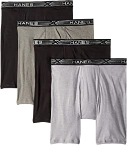 4-Pack Platinum X-Temp Combed Cotton Long Leg Boxer Briefs