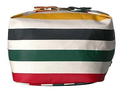Pendleton Canopy Canvas Square Cosmetic Case (Glacier Stripe) Cosmetic Case
