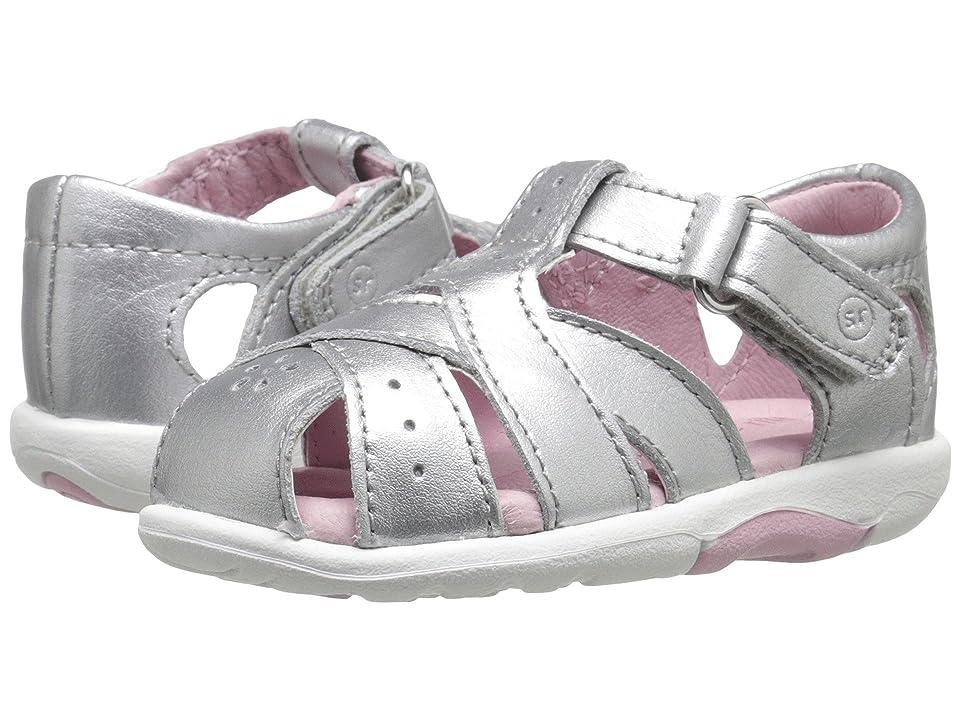 Stride Rite SRT Tulip (Infant/Toddler) (Silver) Girls Shoes