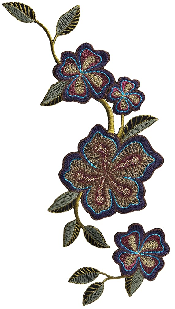 Simplicity Elegant Expressions Flowers Applique, Multi-Embrodied