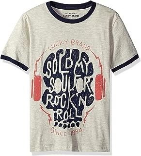 Big Boys' Short Sleeve Rock N Roll Tee Shirt