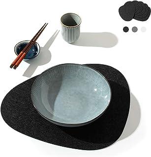 chillify – Ensemble de 6 Sets de Table Design en Feutre – Lavables, absorbants, antidérapants et résistants à la Chaleur –...